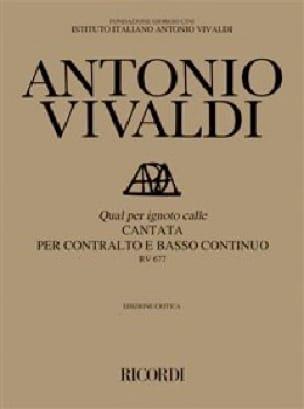 VIVALDI - Qual Per Ignoto Calle RV 677 - Partition - di-arezzo.co.uk