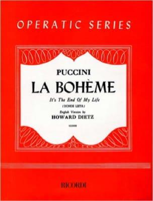 Donde Lieta. la Bohème - PUCCINI - Partition - laflutedepan.com