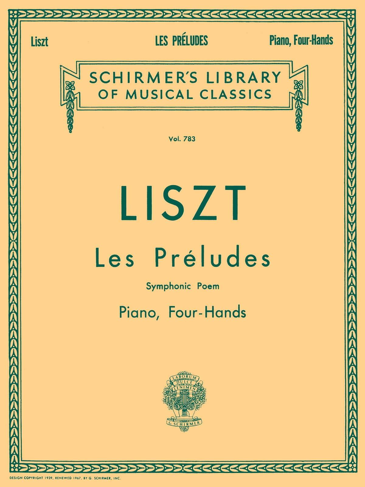 Franz Liszt - The Preludes. 4 Hands - Partition - di-arezzo.com