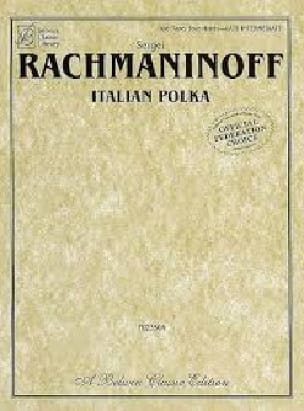 RACHMANINOV - Italian Polka. 4 hands. - Partition - di-arezzo.co.uk