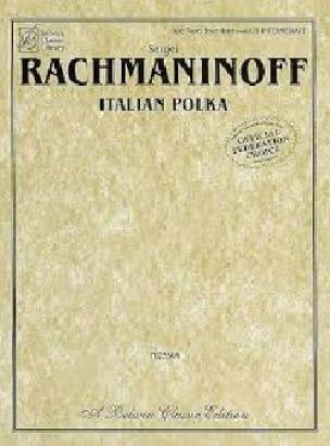 Italian Polka. 4 Mains. - RACHMANINOV - Partition - laflutedepan.com
