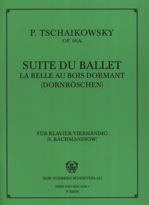 TCHAIKOWSKY - Sleeping Beauty Ballet Suite. Opus 66a. 4 Hands - Partition - di-arezzo.co.uk
