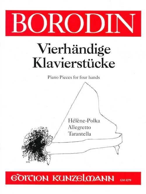Pièces Pour 4 Mains - BORODINE - Partition - Piano - laflutedepan.com
