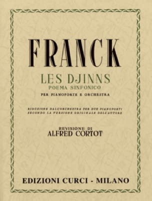 César Franck - The djinns. 2 Pianos - Partition - di-arezzo.com