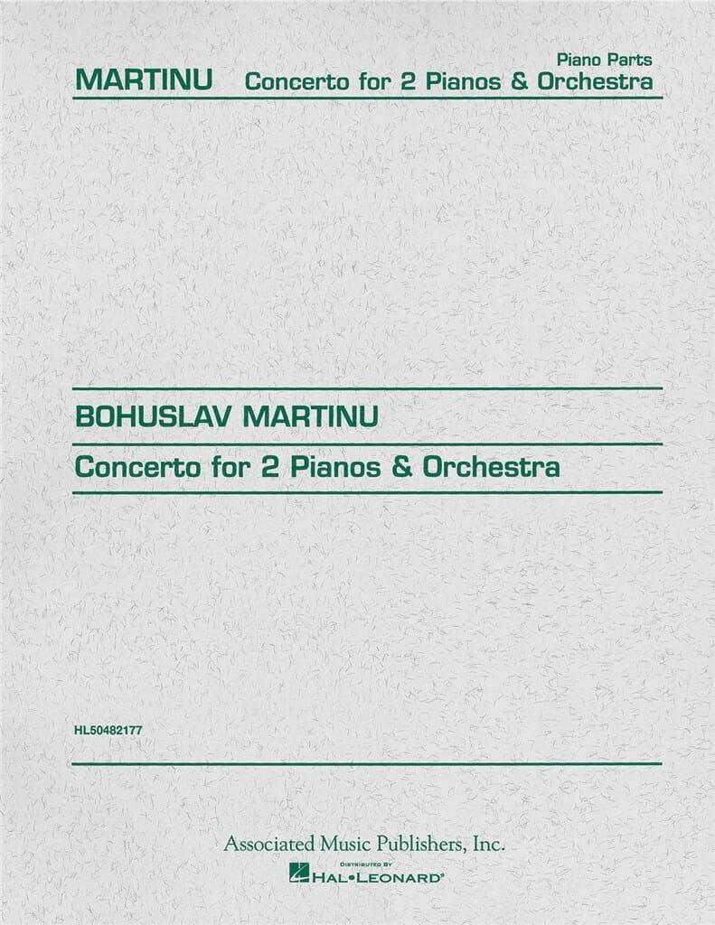Concerto Pour 2 Pianos. - Bohuslav Martinu - laflutedepan.com