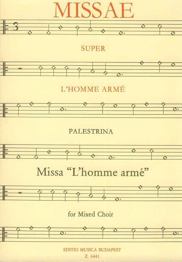 Messe de L'homme Armé - PALESTRINA - Partition - laflutedepan.com