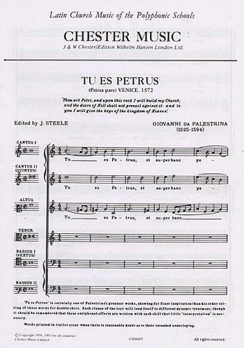 Tu Es Petrus - Giovanni Pierluigi da Palestrina - laflutedepan.com