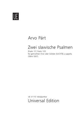 2 Slawische Psalmen. Nouvelle Edition - PÄRT - laflutedepan.com