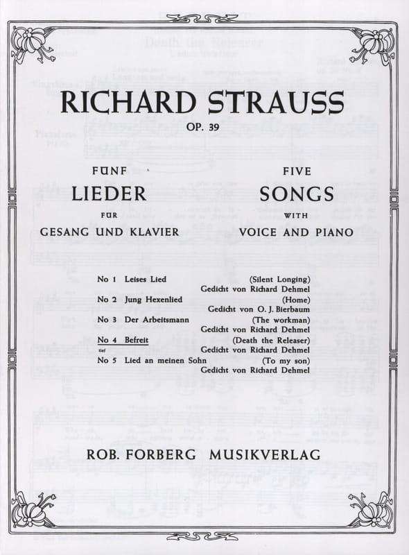 Befreit Op. 39-4. Voix Grave - Richard Strauss - laflutedepan.com