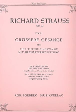 Richard Strauss - Notturno Op. 44-1 - Partition - di-arezzo.es