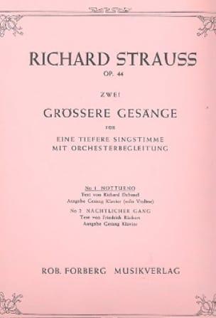 Richard Strauss - Notturno op. 44-1 - Partition - di-arezzo.de