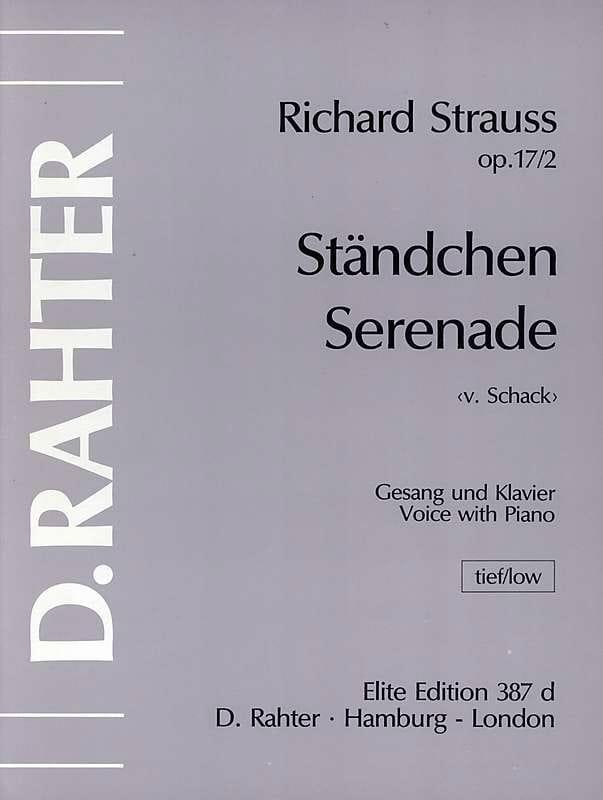 Ständchen. Op. 17-2. Vx Grave - Richard Strauss - laflutedepan.com