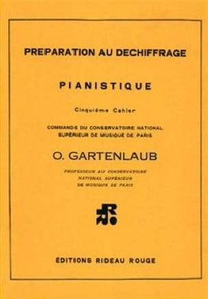 Odette Gartenlaub - Preparation for Piano Deciphering Volume 5 - Partition - di-arezzo.com