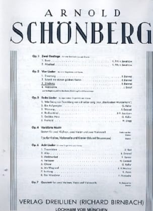 Erhebung Opus 2-3 - Arnold Schoenberg - Partition - laflutedepan.com
