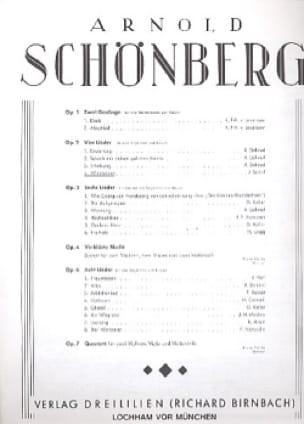 Waldsonne Opus 2-4 - Arnold Schoenberg - Partition - laflutedepan.com