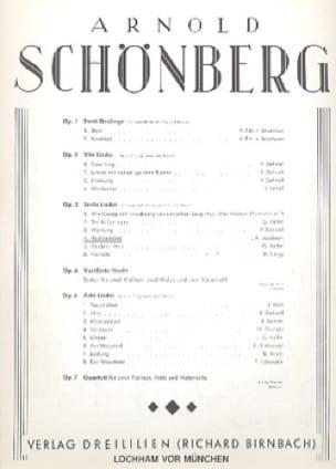 Hochzeitslied Op. 3-4 - SCHOENBERG - Partition - laflutedepan.com