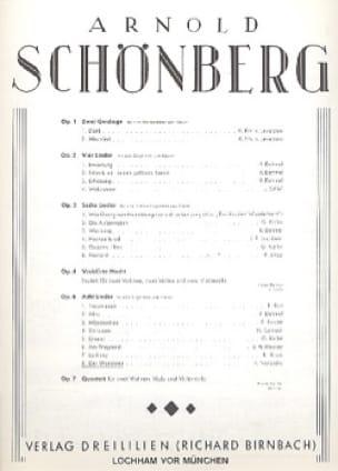 Der Wanderer Op. 6-8 - SCHOENBERG - Partition - laflutedepan.com