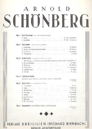 Am Wegrand Op. 6-6 - SCHOENBERG - Partition - laflutedepan.com