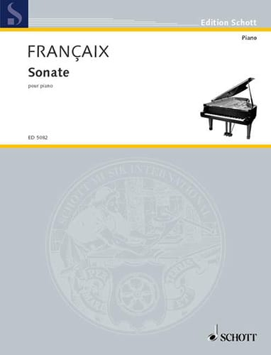 Jean Françaix - Sonata for Piano - Partition - di-arezzo.com