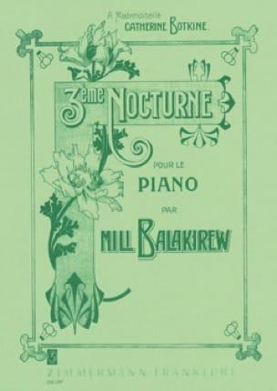 3ème Nocturne - Mili Balakirev - Partition - Piano - laflutedepan.com