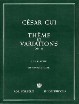 Thème et Variations Op. 61 - César Cui - Partition - laflutedepan.com