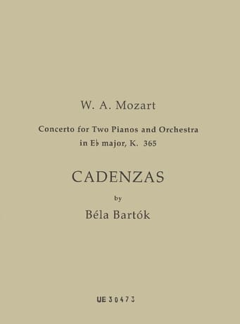 Cadences Pour le Concerto K 365. - MOZART - laflutedepan.com