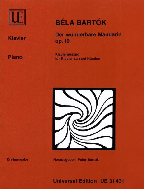 Der Wunderbare Mandarin Opus 19. Piano - BARTOK - laflutedepan.com