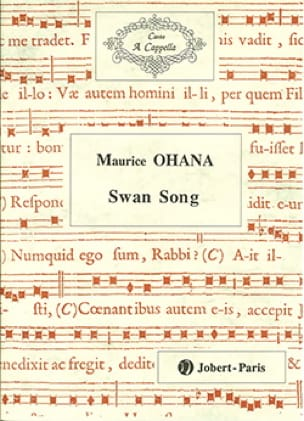 Maurice Ohana - Swan Song - Partition - di-arezzo.com
