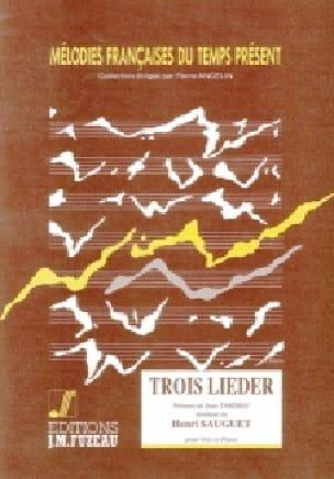 Henri Sauguet - 3 Lieder - Partition - di-arezzo.com