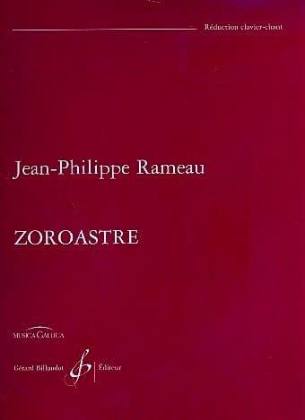 Jean-Philippe Rameau - Zoroaster - Partition - di-arezzo.co.uk