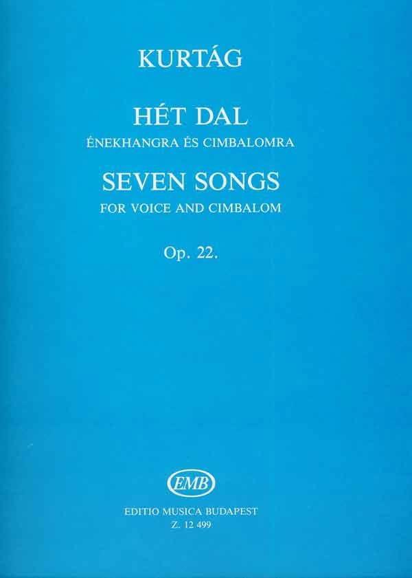 7 Songs Op. 22 - György Kurtag - Partition - laflutedepan.com