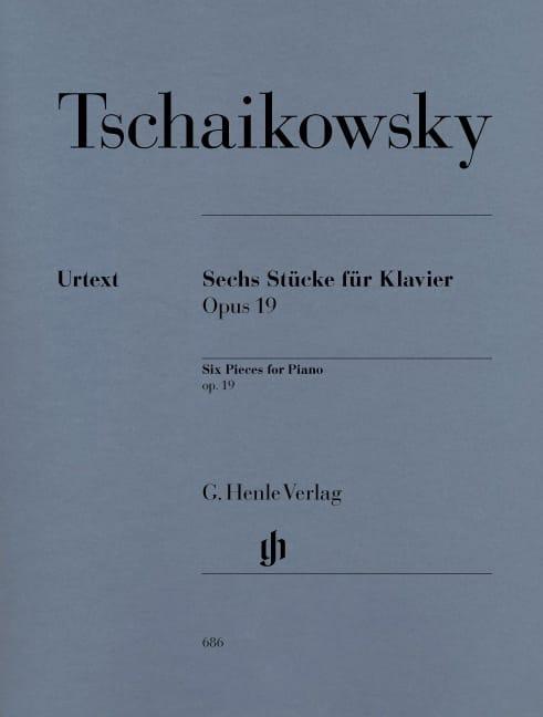 6 Pièces Opus 19 - TCHAIKOVSKY - Partition - Piano - laflutedepan.com
