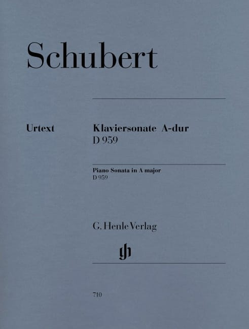 SCHUBERT - Sonate für Klavier In der Major D 959 - Partition - di-arezzo.de