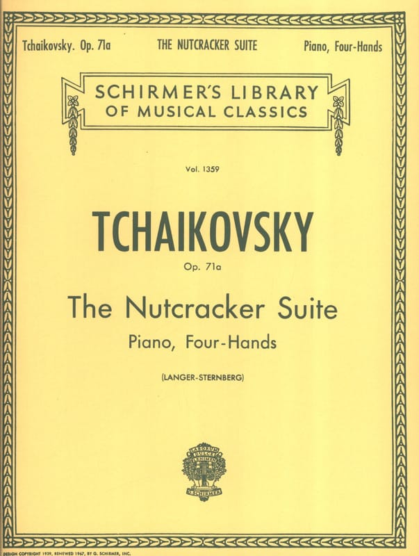 TCHAIKOWSKY - The Nutcracker Suite Opus 71a. 4 Hands - Partition - di-arezzo.co.uk