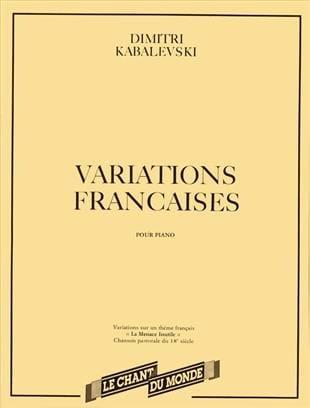 Dimitri Kabalevsky - French variations - Partition - di-arezzo.com