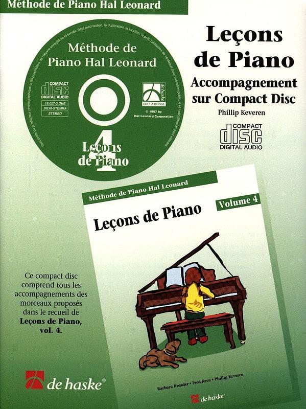 Leçons de Piano Volume 4. CD - laflutedepan.com