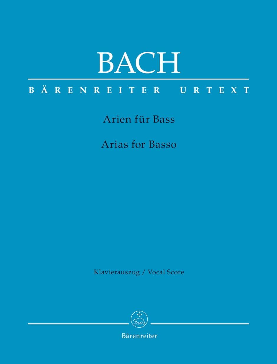 Das Arienbuch Basse. - BACH - Partition - Mélodies - laflutedepan.com