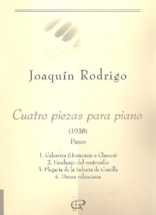 Joaquin Rodrigo - 4 Piezas Para Piano - Partition - di-arezzo.co.uk