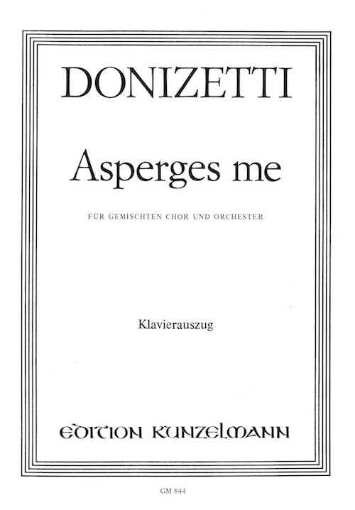 Asperges Me - DONIZETTI - Partition - Chœur - laflutedepan.com