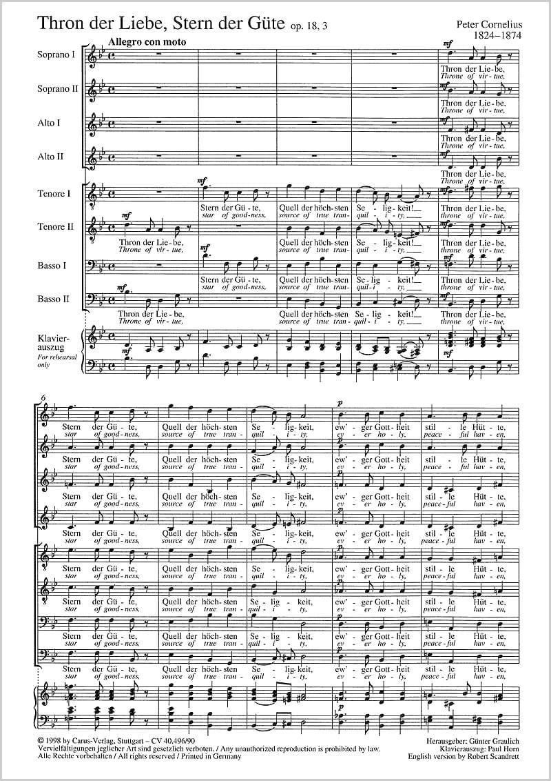 Thron Der Liebe Op. 18-3 - Peter Cornelius - laflutedepan.com