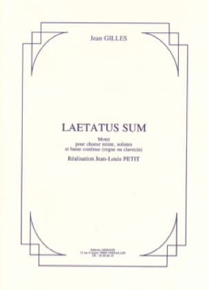 Laetatus Sum - Jean Gilles - Partition - Chœur - laflutedepan.com