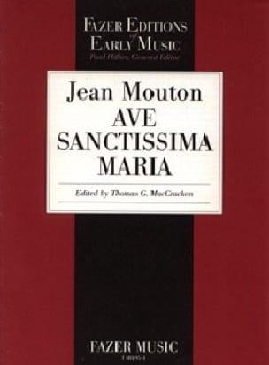Ave Sanctissima Maria - Jean Mouton - Partition - laflutedepan.com