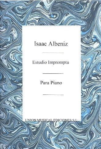 Estudio Impromptu - Albeniz - Partition - Piano - laflutedepan.com