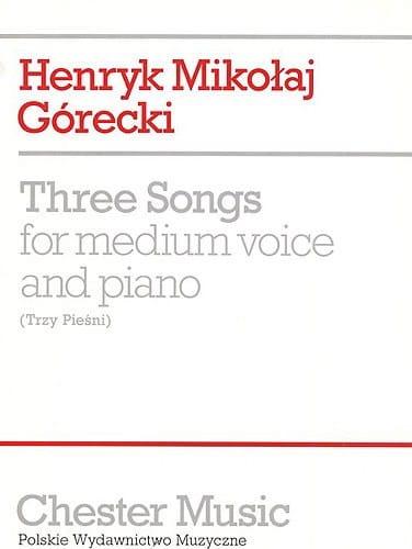 3 Songs Op. 3 - GORECKI - Partition - Mélodies - laflutedepan.com
