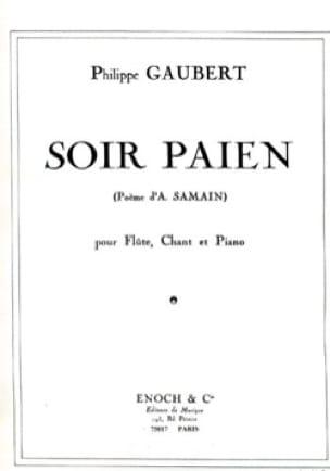 Soir Païen - Philippe Gaubert - Partition - laflutedepan.com