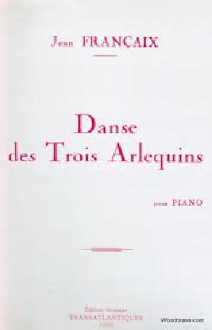 Jean Françaix - Dance of the 3 Harlequins - Partition - di-arezzo.com