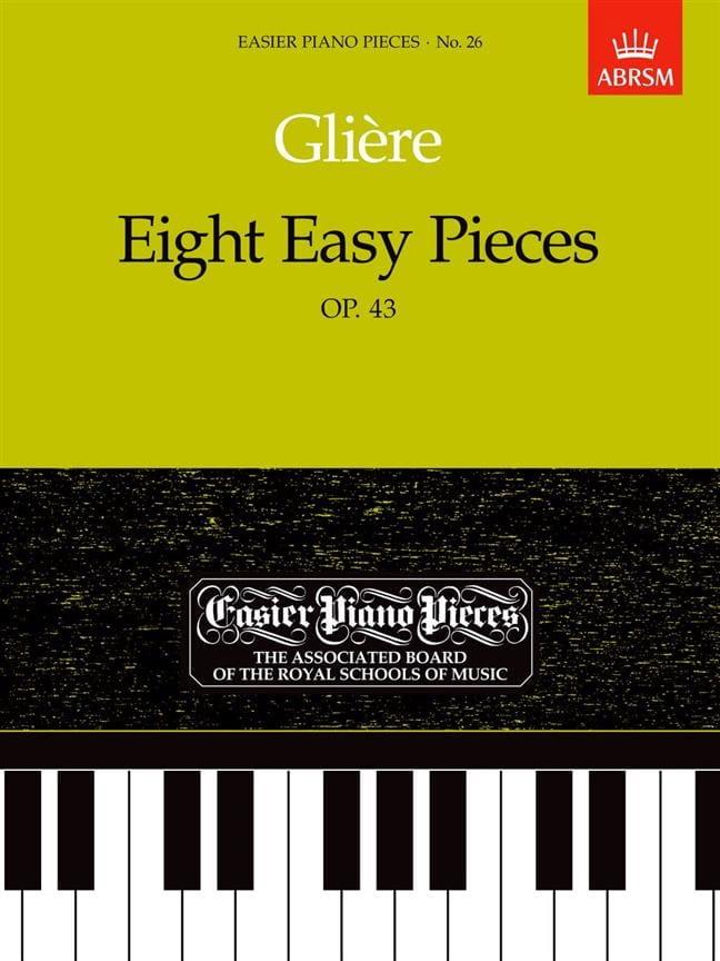 8 Easy Pieces Opus 43 - Reinhold Glière - Partition - laflutedepan.com