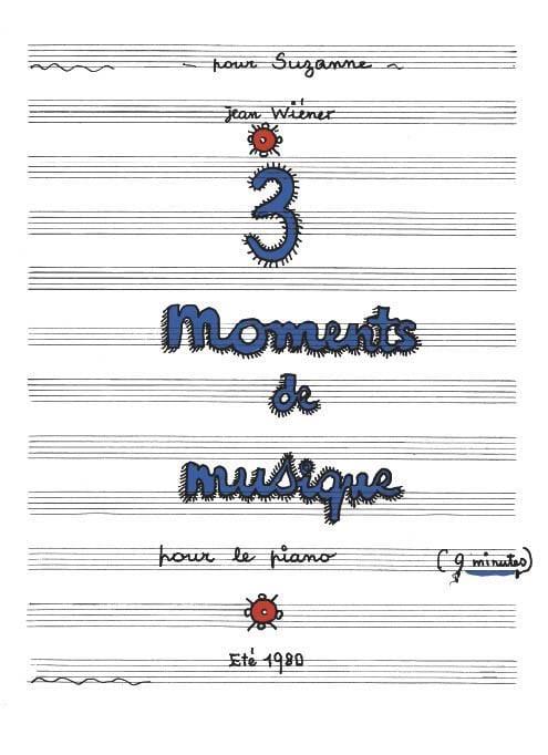Jean Wiener - 3 Moments of Music - Partition - di-arezzo.co.uk