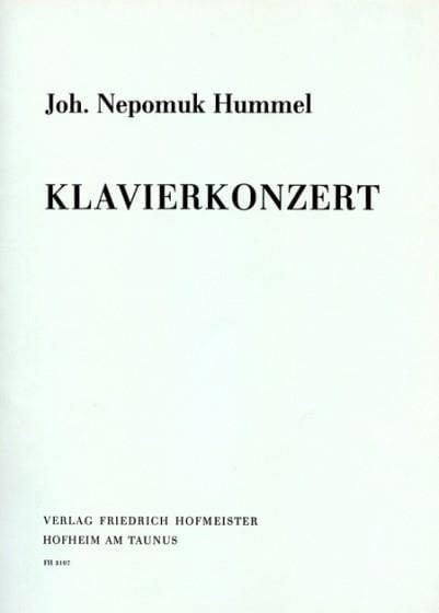 Concerto En la Majeur. Partie Soliste - HUMMEL - laflutedepan.com