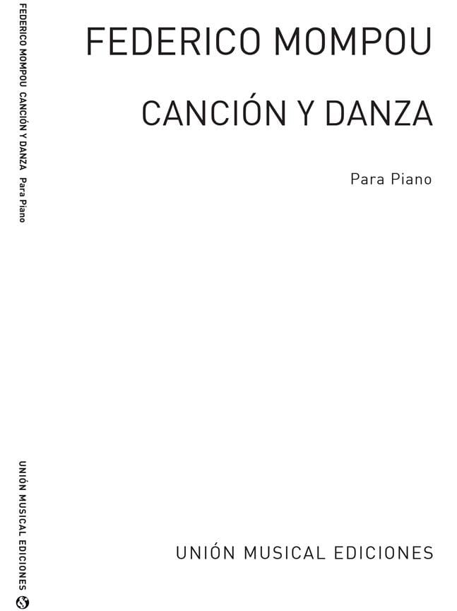 Cancion Y Danza 3 - Federico Mompou - Partition - laflutedepan.com